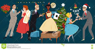 retro christmas party stock vector image 79118737
