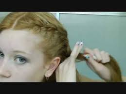 how to i french plait my own side hair how to french braid your own hair in two parts neatly youtube