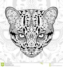the black and wild cat white print with ethnic zentangle patterns