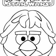 angry birds star wars famous character han solo coloring pages