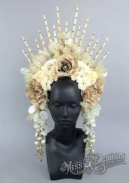 flower headdress white flower headdress by miss g designs etsy shop