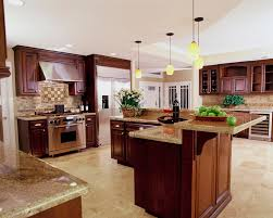 traditional style of design ideas in kitchen room with pendant