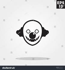 halloween clown background killer clown monster face halloween icon stock vector 492719116