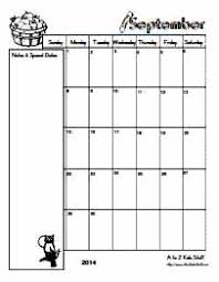 printable monthly planner september 2014 a to z kids stuff editable blank monthly calendars