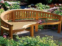 curved outdoor bench a touch of the outdoor park in your