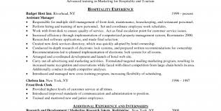 Resume Template For Hospitality Hospitality Skills And Qualifications Resume Template For