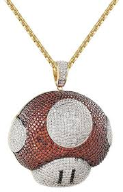 free gold necklace images Master of bling multicolor 14k gold finish red white mario jpg