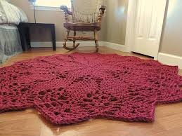 Red Round Rug Aliexpress Com Buy Giant Crochet Doily Rug In Red Geometric Rug