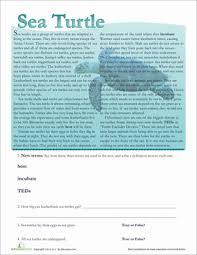 marine life facts 2nd grade comprehension worksheets education com