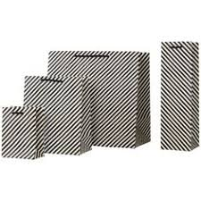 black and white striped gift bags these sophisticated black and white striped gift bags feature gold