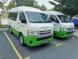 hiace 10 seater toyota hiace van bas persiaran for rent with driver