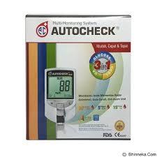 Alat Tes jual alat ukur kadar gula autocheck alat tes darah gcu 3 in 1