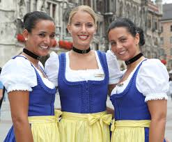 lufthansa crew takes off in traditional bavarian dress during