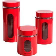 Red Kitchen Set - red canisters ebay
