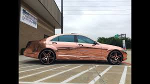 roll royce swangas rose gold chrome wrap youtube
