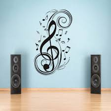 online buy wholesale musical wall stickers from china musical wall diy musical note home decor music wall sticker removable vinyl decal babys room sofa background wall