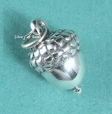 sterling silver acorn charm 3d thai silver charms 11 x 7 x