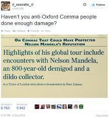Oxford Comma Meme - oxford commas nelson mandela and stephen king sentence first