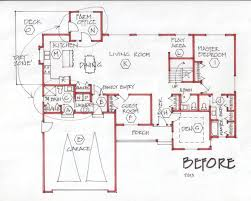 open floor plan farmhouse open concept office floor plans