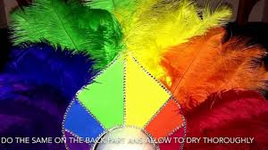 how i made my rainbow headdress step by step youtube