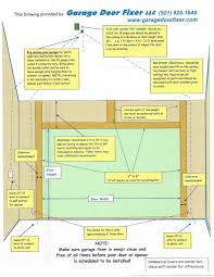 garage door framing diagram home interior design