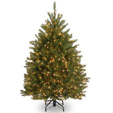 get the 4 5 ft pre lit dunhill fir full artificial christmas