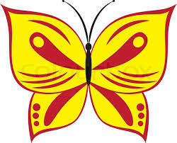 vector illustration of and yellow butterfly stock
