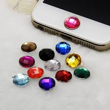 Iphone Home Button Decoration Buy Bling Crystal Double Letter C Home Button Sticker Phone