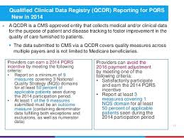 pqrs registries understanding the physician quality reporting system pqrs requireme