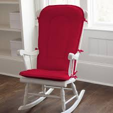 Rocking Mini Crib by Solid Red Rocking Chair Pad Carousel Designs