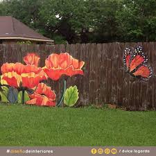 25 ideas for decorating your garden fence diy fences