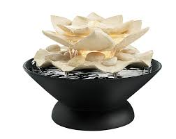 interior design lotus flower water fountain decorations relaxation