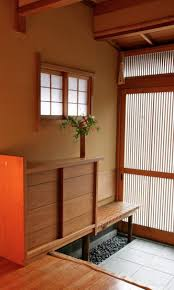 Traditional Japanese House Design Genkan Design On Traditional Japanese House Interior Wooden Floor