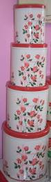 Red Kitchen Canisters Sets 118 Best Red Canisters Images On Pinterest Red Canisters