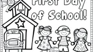 preschool coloring pages school first day of preschool coloring pages first day of school coloring