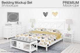 Practical Bedding Set Bedding Mockup Set Product Mockups Creative Market