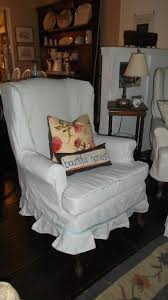 white wing chair slipcover slipcovers cotton duck wing chair slipcover best slipcovers cover