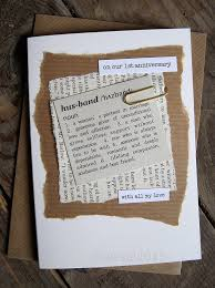 paper anniversary gifts for him 1st anniversary wedding day card husband paper dictionary style