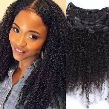 clip ins 3b 3c curly clip in human hair extensions 7pc