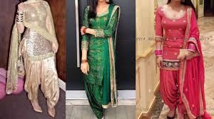 party wear punjabi suit designs ideas heavy embroided patiala suit