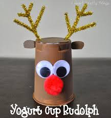 crafts made with yogurt containers google search navidad
