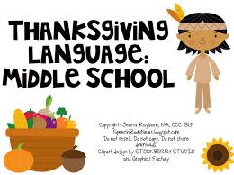 thanksgiving middle school speech room news