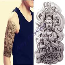 arm tatoo 3d men buddha tattoos designs waterproof temporary
