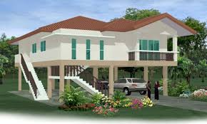 elevated home designs bungalow house design with floor plan philippines floordecorate com