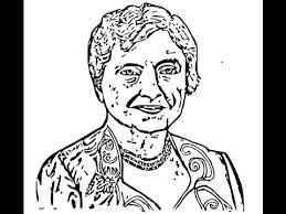 how to draw helen keller face sketch drawing step by step youtube