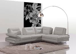 Modern Leather Sectional Sofas Modern Taupe Italian Leather Sectional Sofa W Adjustable Backrests