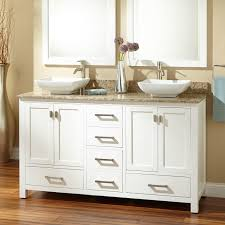 Modero Double Vessel Sink Vanity White Bathroom - Bathroom vanities double vessel sink