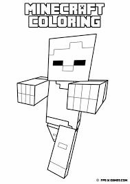 minecraft coloring pages zombie pigman eson