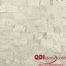 Split Face Stone Backsplash by Nysa Travertine Split Face Tile Qdisurfaces