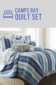 The Bay Duvets Camps Bay Quilt Set By Levtex Home Is 100 Cotton Quilt It Is